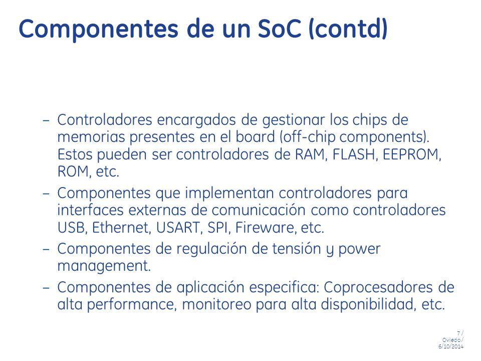 Componentes de un SoC (contd)
