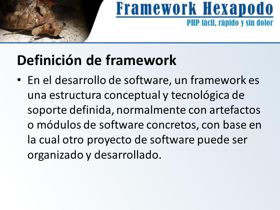 Definición de framework