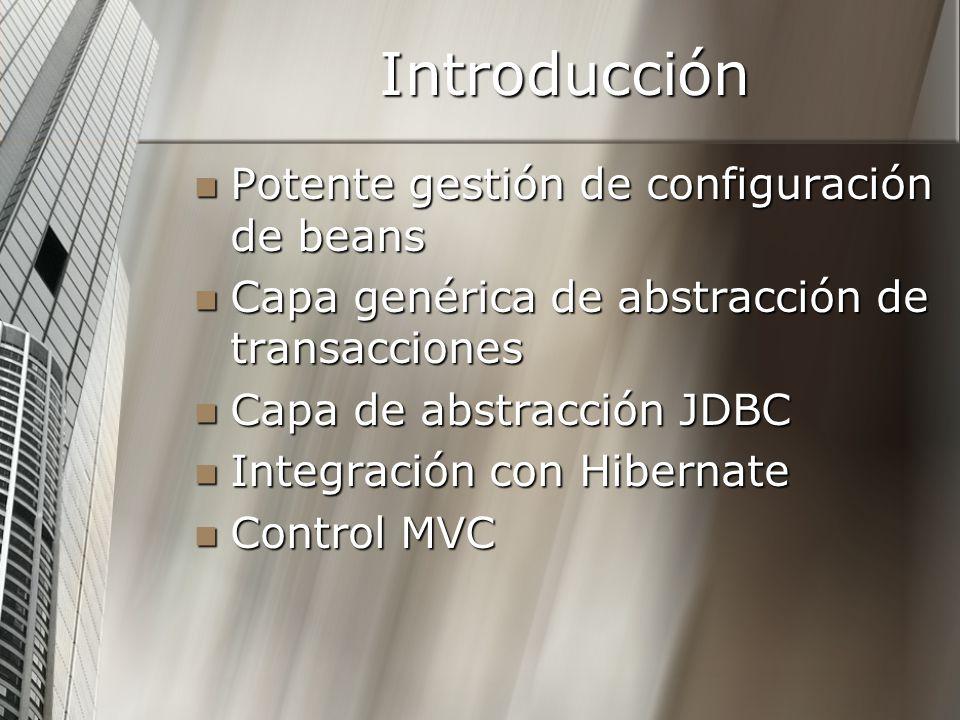 Introducción Potente gestión de configuración de beans