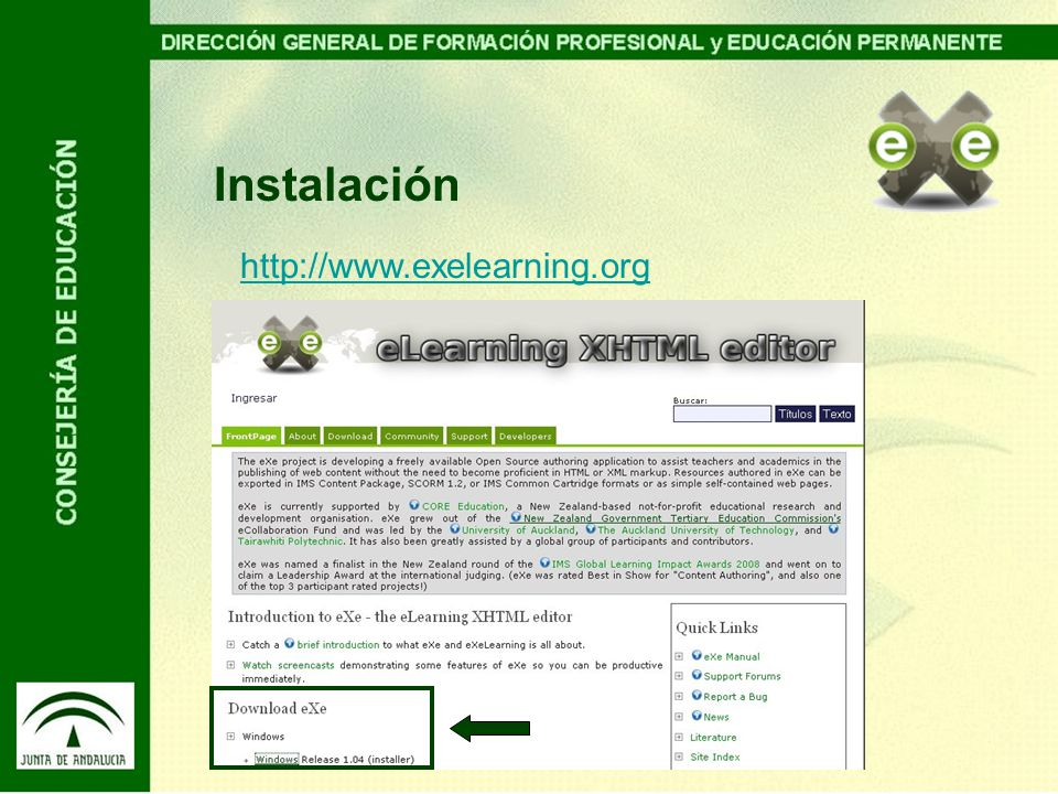 Instalación http://www.exelearning.org
