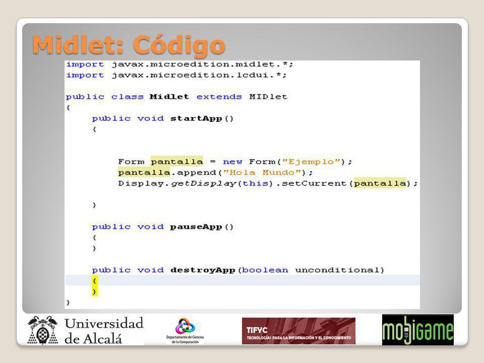 Midlet: Código