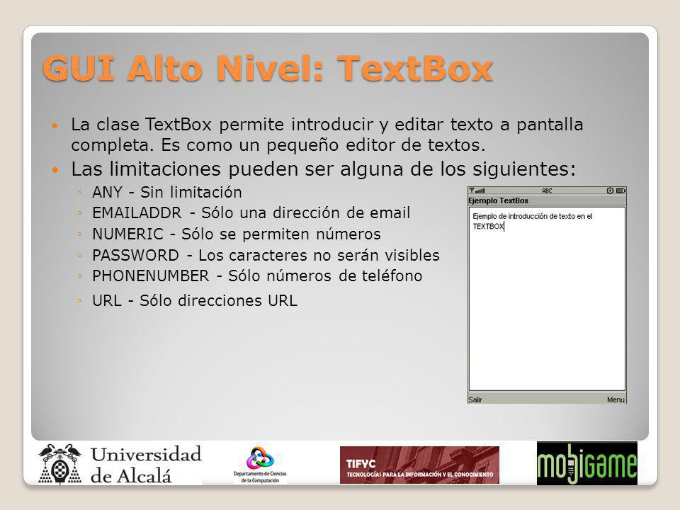 GUI Alto Nivel: TextBox
