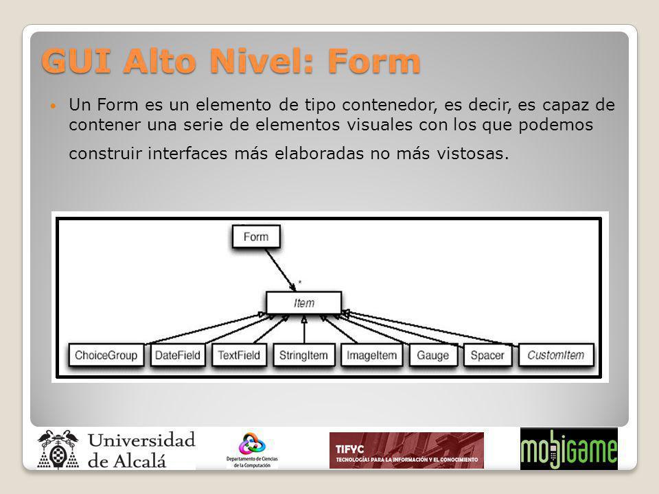 GUI Alto Nivel: Form
