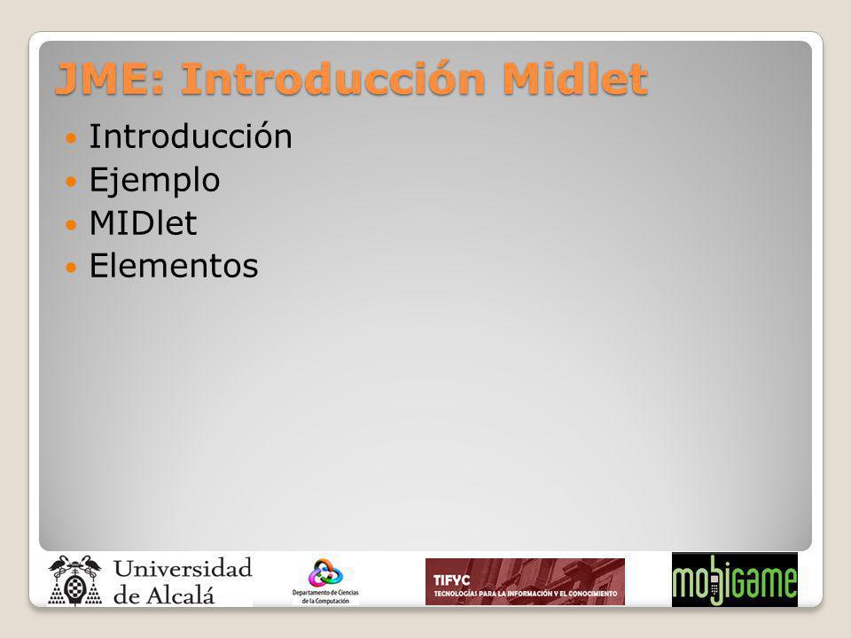 JME: Introducción Midlet