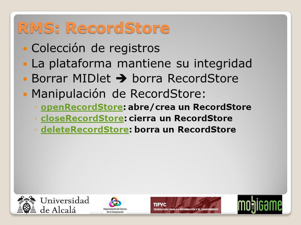 RMS: RecordStore Colección de registros