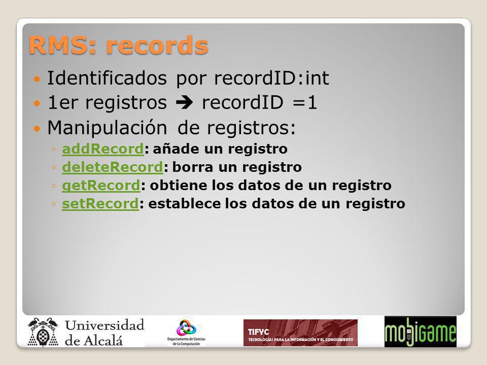 RMS: records Identificados por recordID:int