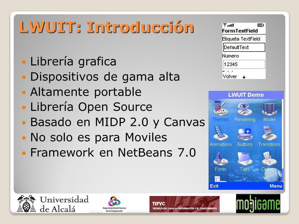LWUIT: Introducción Librería grafica Dispositivos de gama alta