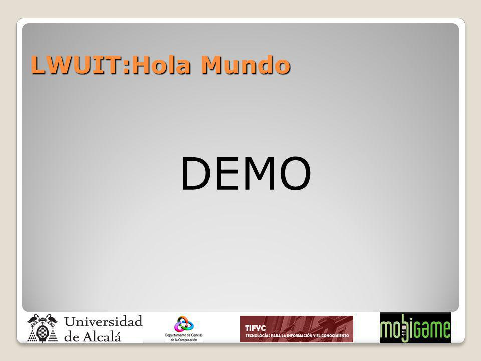 LWUIT:Hola Mundo DEMO