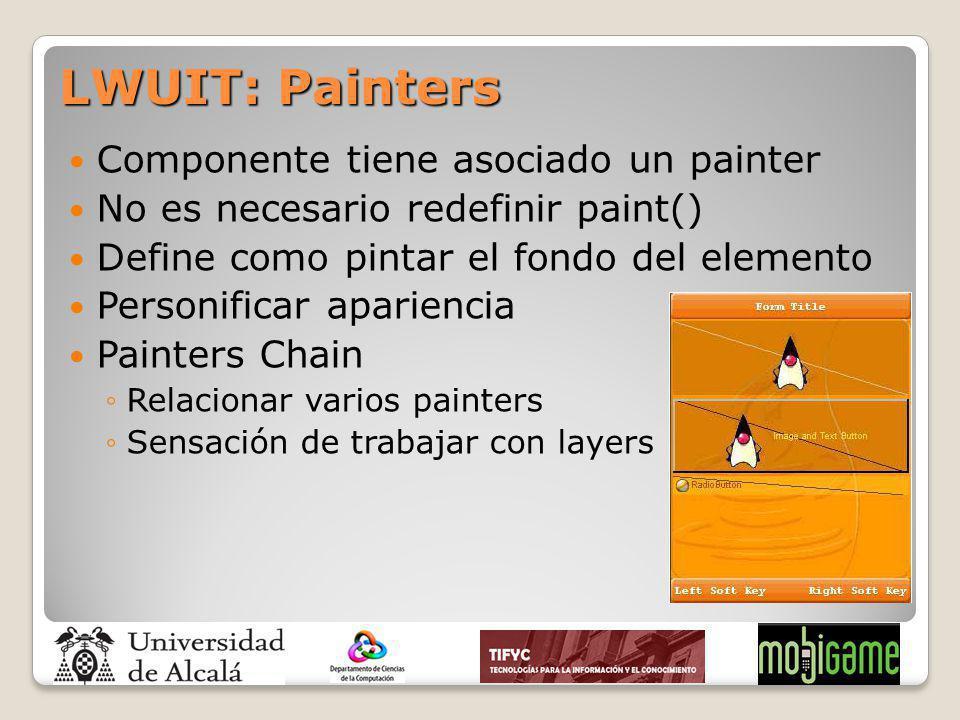 LWUIT: Painters Componente tiene asociado un painter