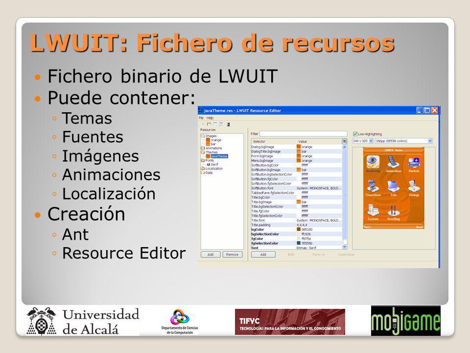 LWUIT: Fichero de recursos
