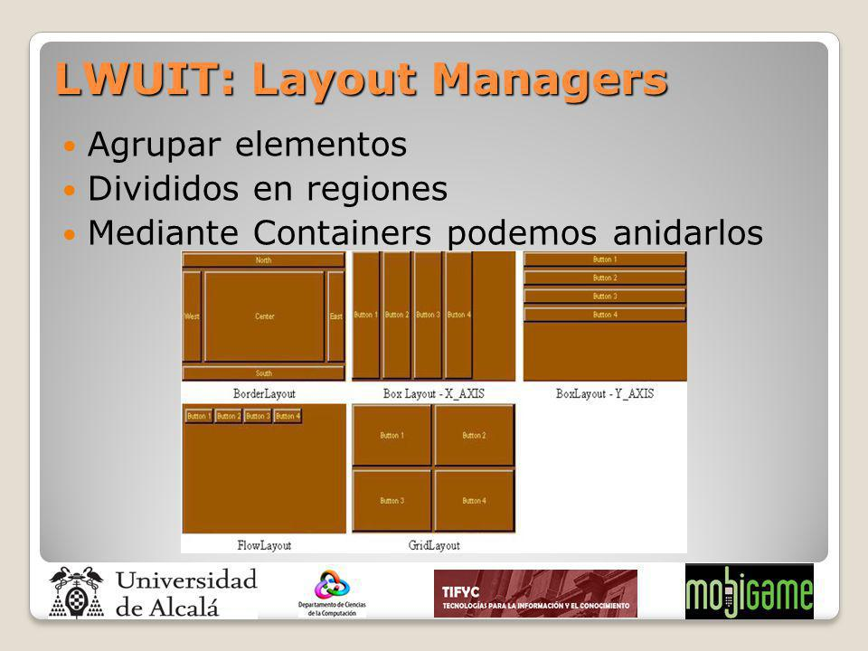 LWUIT: Layout Managers