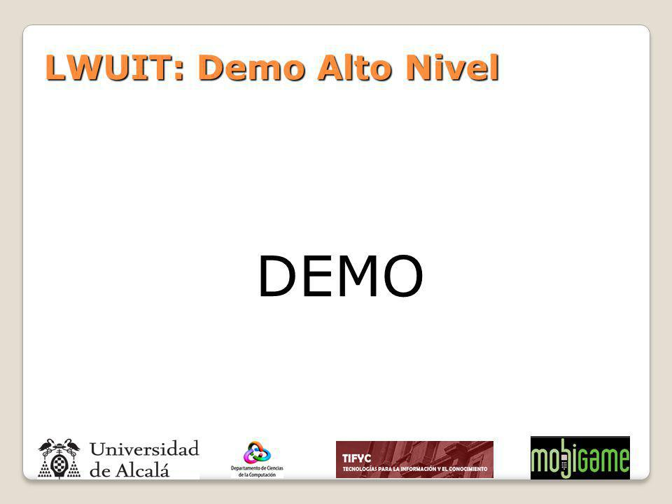 LWUIT: Demo Alto Nivel DEMO
