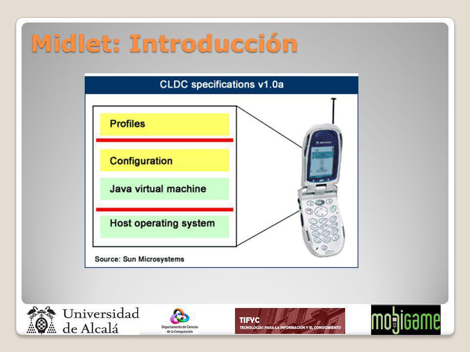 Midlet: Introducción - Mencionar que las configuraciones es una agrupación de clases disponibles en un tipo de dispositivos.