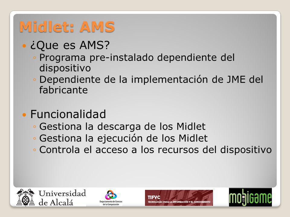 Midlet: AMS ¿Que es AMS Funcionalidad