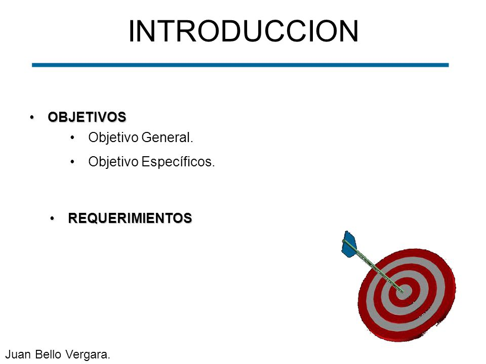 INTRODUCCION OBJETIVOS Objetivo General. Objetivo Específicos.
