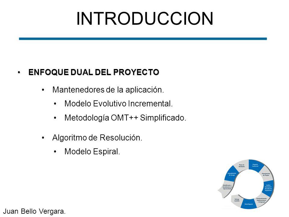 INTRODUCCION ENFOQUE DUAL DEL PROYECTO Mantenedores de la aplicación.