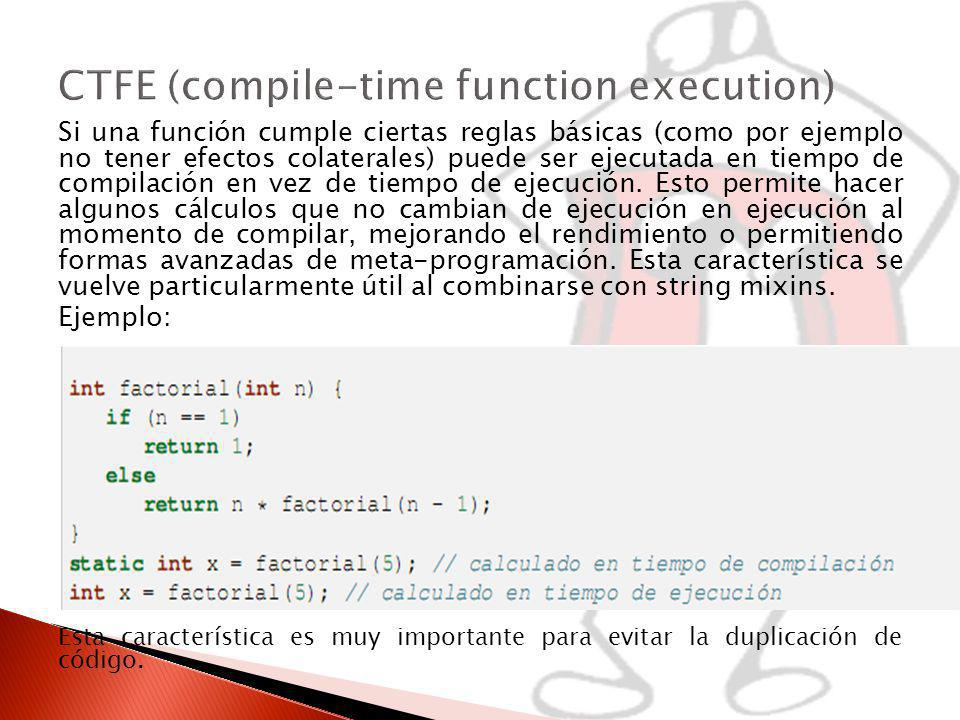 CTFE (compile-time function execution)