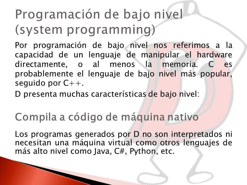 Programación de bajo nivel (system programming)