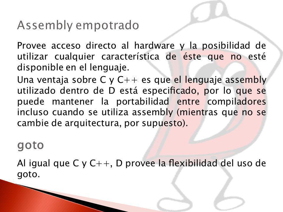 Assembly empotrado goto