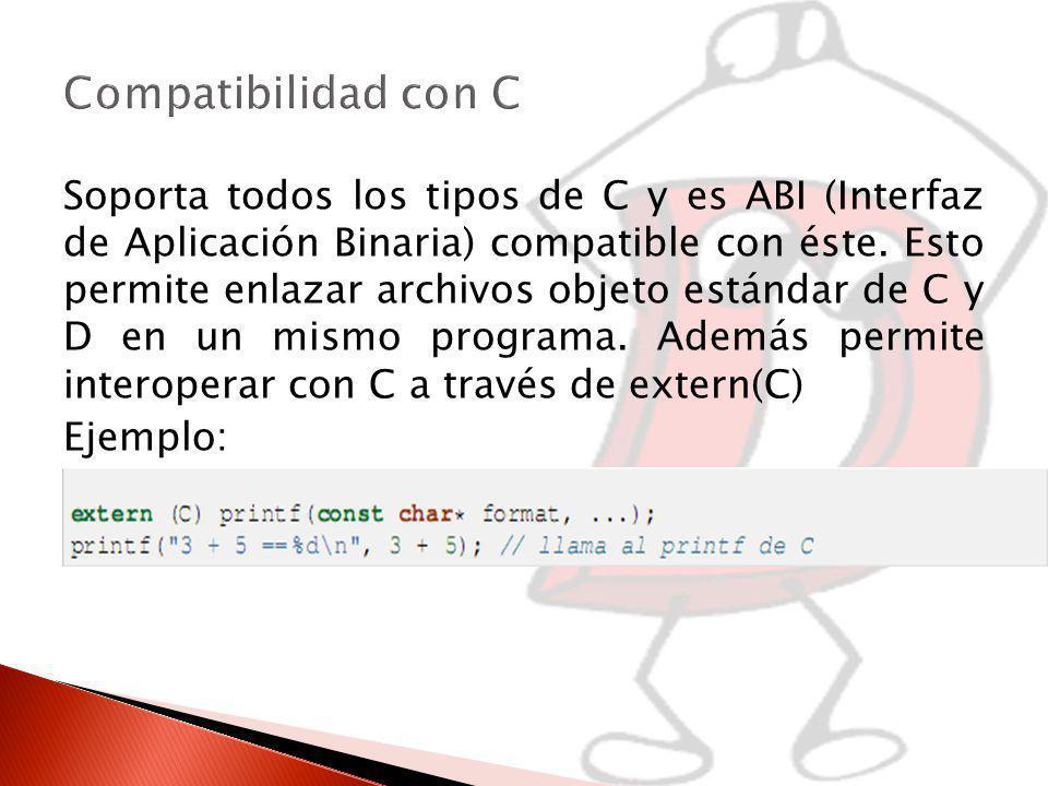 Compatibilidad con C