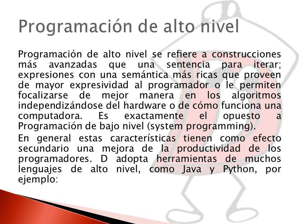 Programación de alto nivel