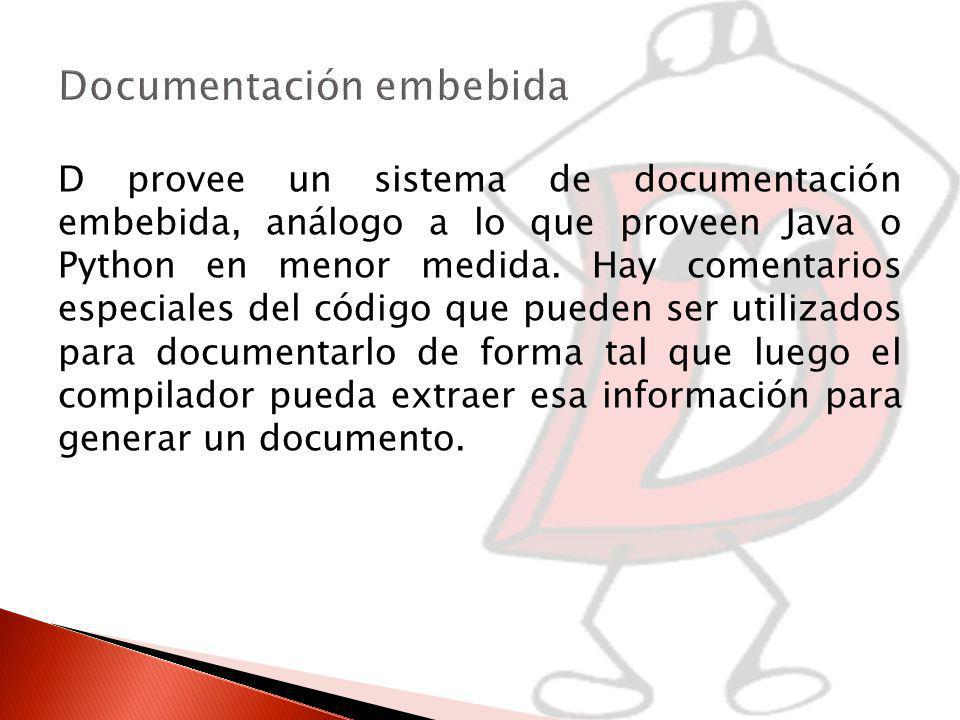 Documentación embebida