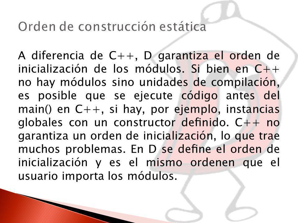 Orden de construcción estática