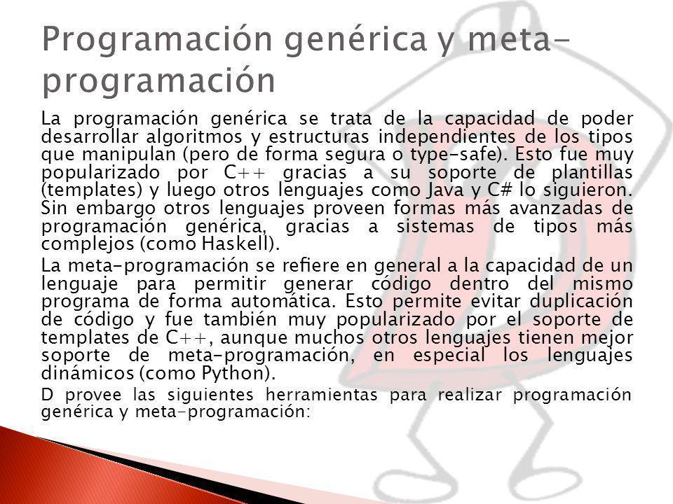 Programación genérica y meta-programación