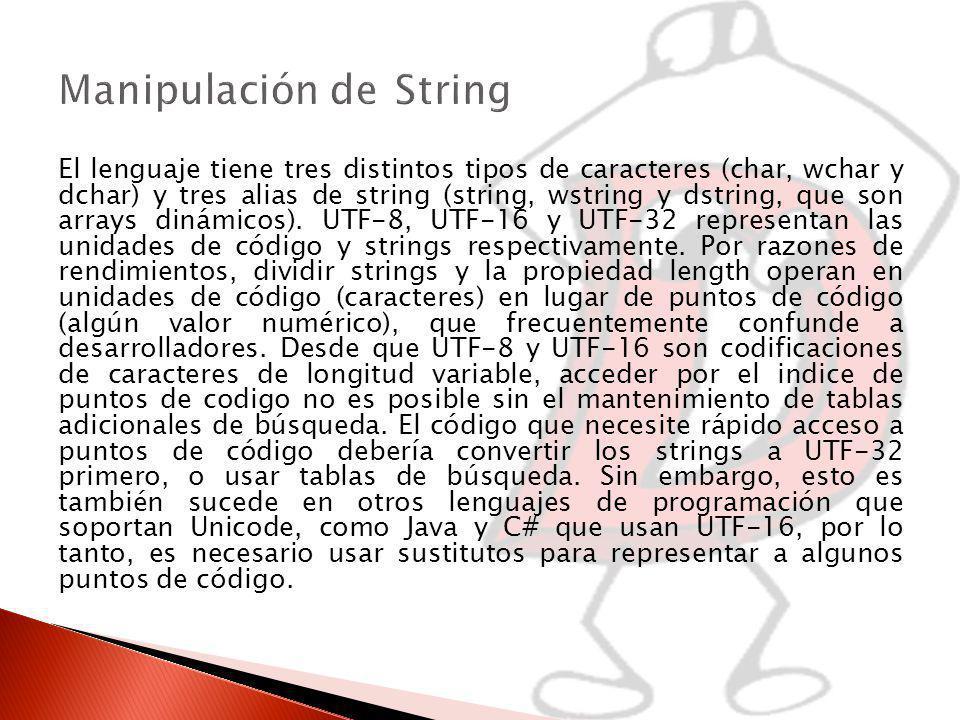 Manipulación de String
