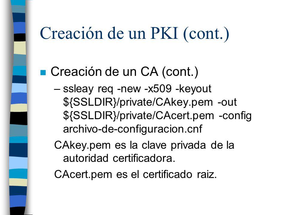 Creación de un PKI (cont.)