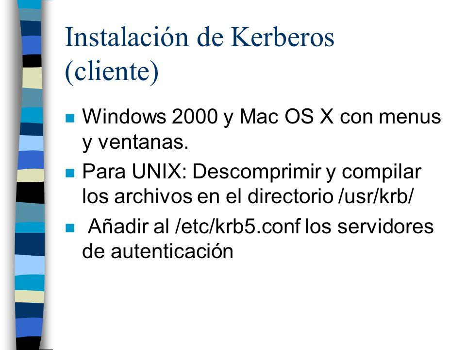 Instalación de Kerberos (cliente)