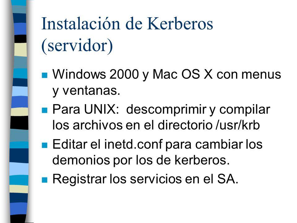 Instalación de Kerberos (servidor)