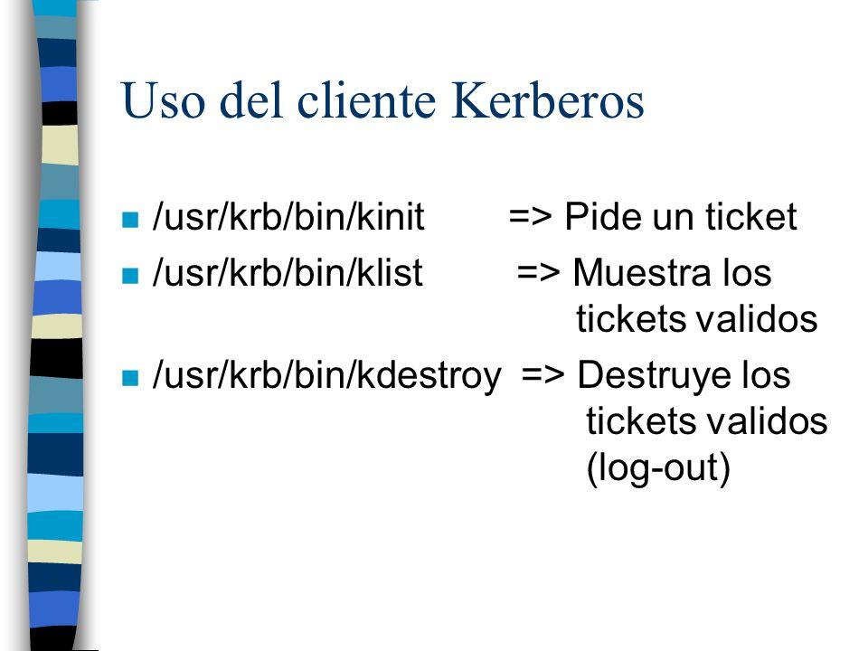 Uso del cliente Kerberos