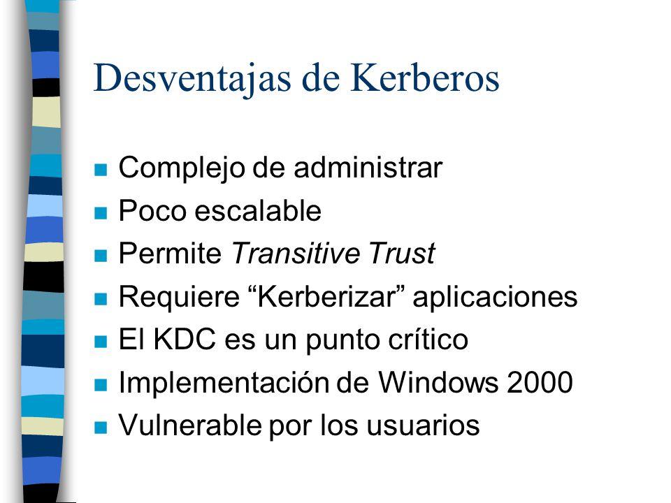 Desventajas de Kerberos