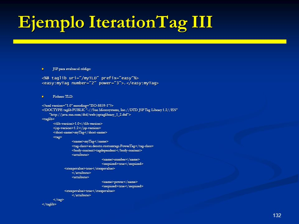 Ejemplo IterationTag III
