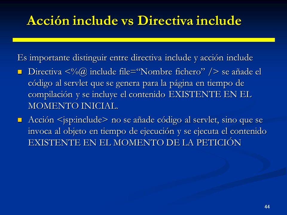 Acción include vs Directiva include