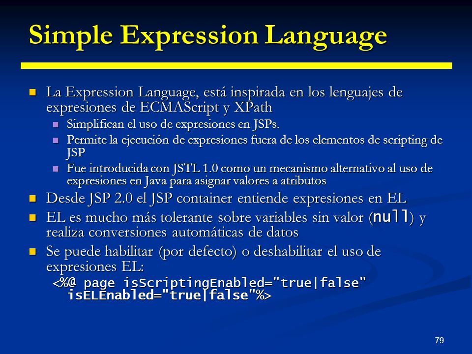 Simple Expression Language