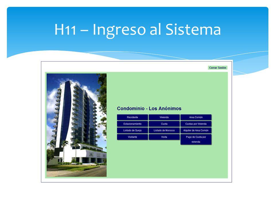 H11 – Ingreso al Sistema