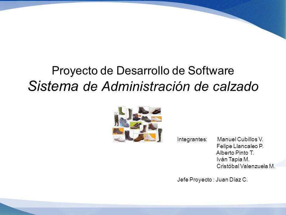 Prueba Proyecto de Desarrollo de Software Sistema de Administración de calzado. Integrantes: Manuel Cubillos V.
