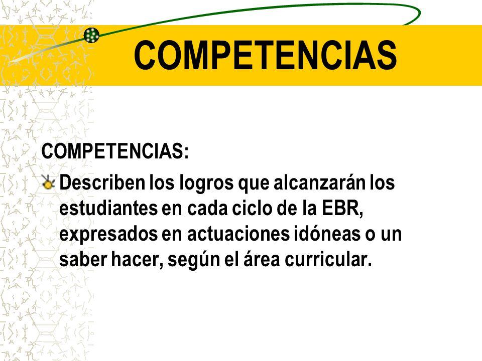 COMPETENCIAS COMPETENCIAS: