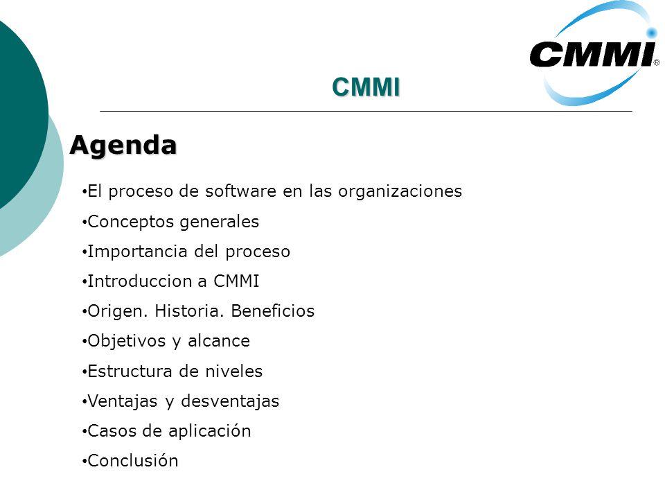 CMMI Agenda El proceso de software en las organizaciones