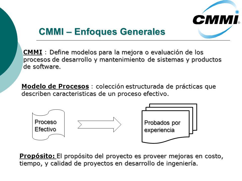 CMMI – Enfoques Generales