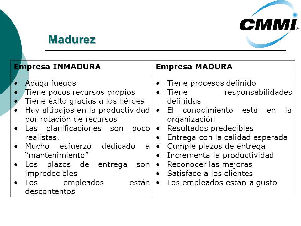 Madurez Empresa INMADURA Empresa MADURA Apaga fuegos