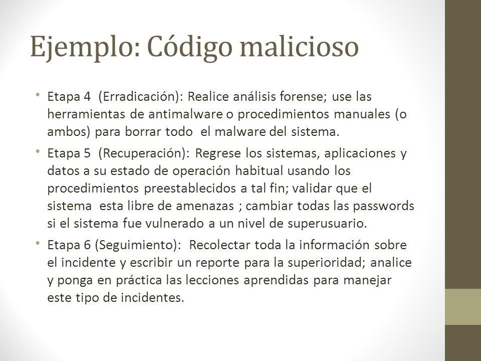 Ejemplo: Código malicioso