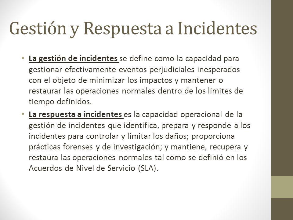 Gestión y Respuesta a Incidentes