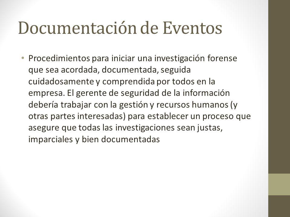 Documentación de Eventos