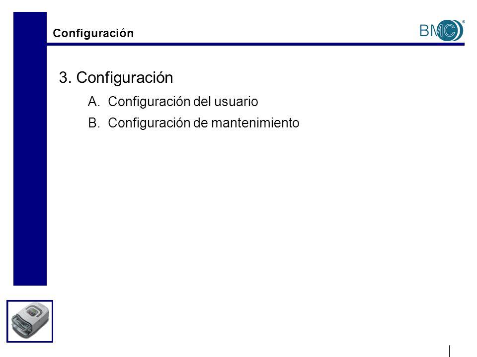 Configuración Botones de control