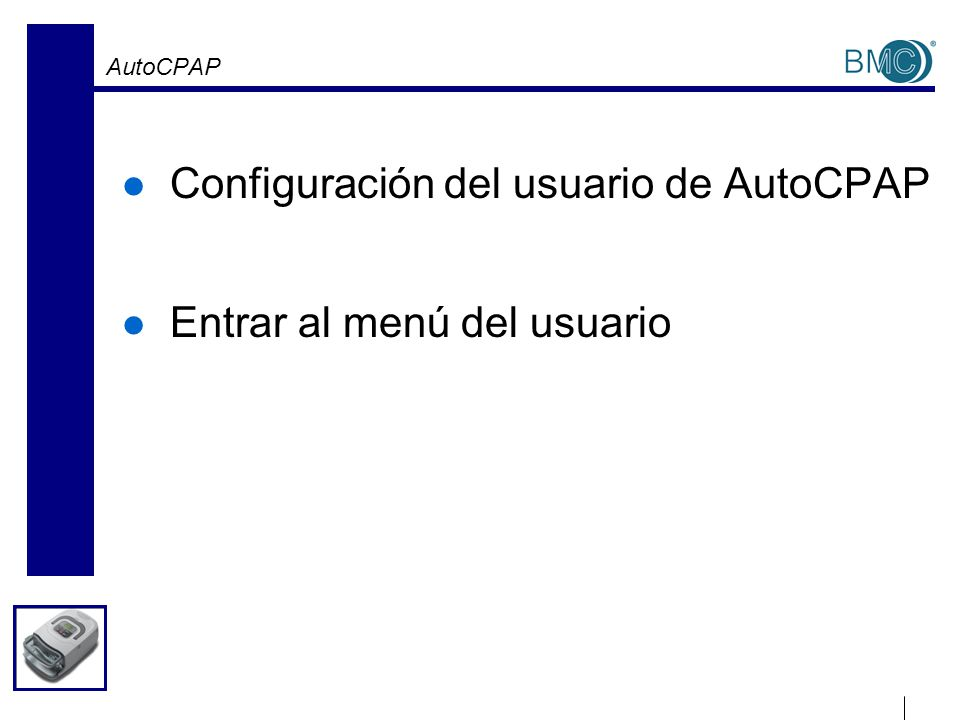 Configuración de AutoCPAP