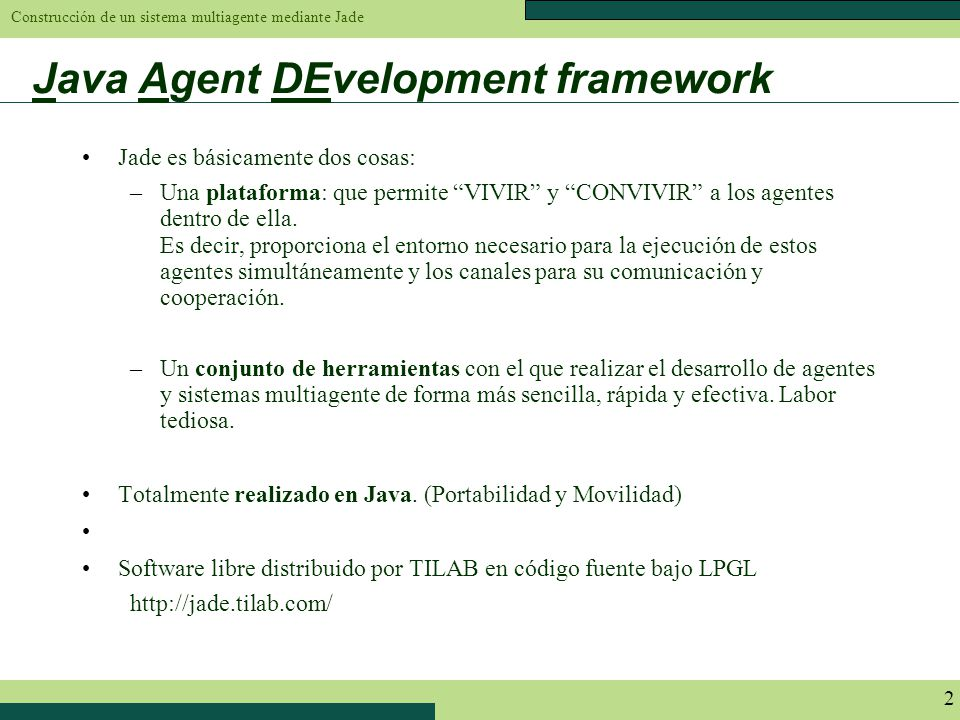 Java Agent DEvelopment framework