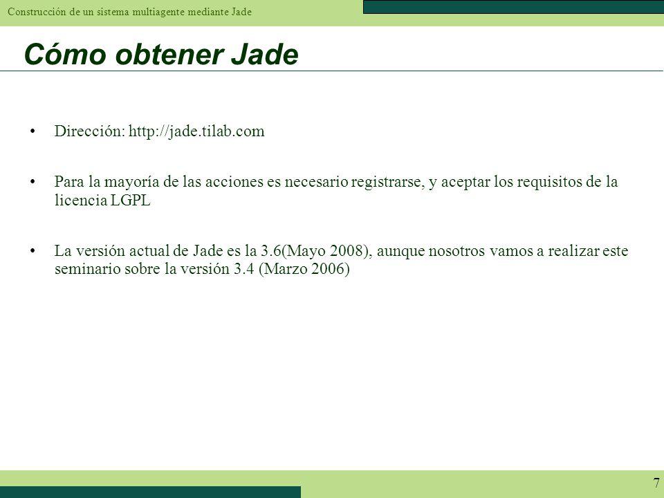 Cómo obtener Jade Dirección: http://jade.tilab.com